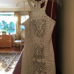 Sexy White Bebe party dress